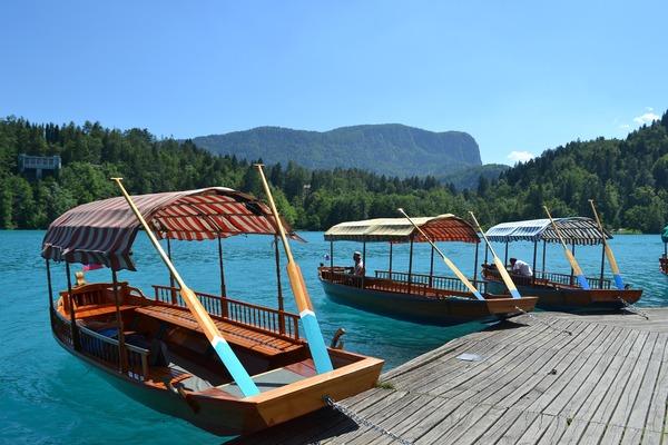 Pletna no Lago Bled, Eslovenia